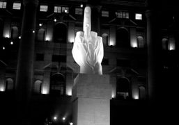 Donation of Maurizio Cattelan's L.O.V.E to the city of Milan, Milan