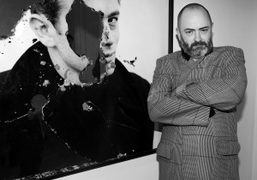 Douglas Gordon at the opening night of Decadences, a group exhibition of Gardar Eide…