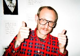 Terry Richardson on the opening night of his show MOM & DAD…