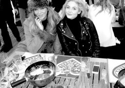 Mellissa Laycy and Tamsin Egerton at the ASMALLWORLD, Winter Weekend Fondue lunch….