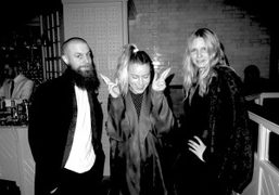 Lowell Delaney, Dree Hemingway andKim Trager at an intimate dinner to celebrate…