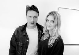 Cyprien Gaillard and Lily Donaldson at the opening of Cyprien Gaillard and…