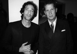 Adrian Brody andStefano Tonchi at the W Magazine and Cartier Art Baseldinner…