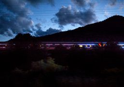 Night shot while chasing the Station to Station train by Doug Aitken…