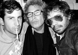André Saraiva, Brad Elterman and Olivier Zahm at La Fidelite, Paris. Photo Olivier Zahm