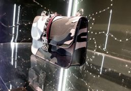 A bag from Valentino's new Camouflage collection at the Valentino store, Milan….