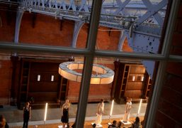 A view of the Toga S/S 2015 presentation at the St. Pancras Renaissance…