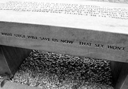 Jenny Holzer's Benches on Castle Square, Warsaw