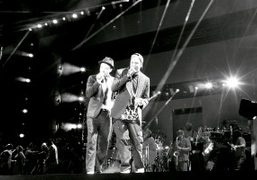 """Jay-Z & Justin Timberlake """"Legends of the Summer"""" concert at the Rose..."""