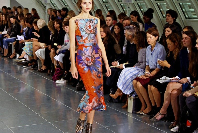 One look from the Antonio Berardi S/S 2015 show at Park House, London.