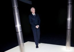 Giorgio Armani at the finale of the Giorgio Armani Privé Haute Couture…