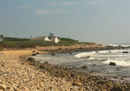 Andy Warhol's former Montauk estate boarded up in preparation for Hurricane Irene's…