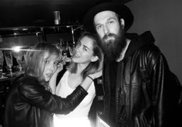 Purple's Paula Goldstein, Elle's Rosa Safiah Connell and artist Richie Culver DJing at…