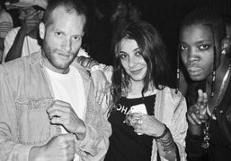 Aaron Bondaroff, Lizzi Bougatsos, and a friend at the Opening Ceremony S/S 2015…