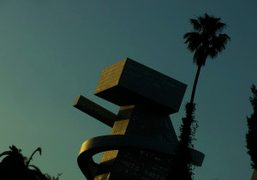 The School #9 building at sunset in downtown Los Angeles. Photo Andi…