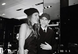 Anna Dello Russo and Fabio Zambernardi at the Prada, 6 rue du…