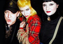 Boy George, Princess Julia and Pam Hogg at the Pam Hogg's party at…