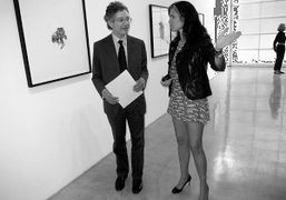 OPENING NIGHT OF AD LIB at the gagosian gallery, beverly hills