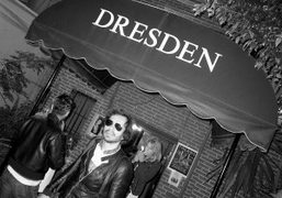 Olivier Zahm front of the Dresden Room, Los Angeles. Photo Brad Elterman