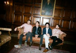 British band Keane in the lobby of The Orpheum Theatre, Los Angeles. Photo Brad…