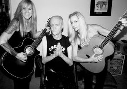 The Runways members Cherie Currie and Lita Ford at American record producer…