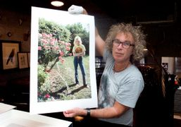 Brad Elterman at Milk Studios signing his Cherie Currie photo for his new PHOTO BOX suite, Los Angeles….