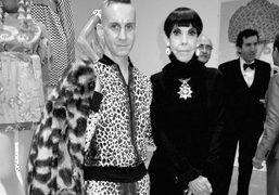 Jeremy Scott and Peggy Moffitt at the Total Look Opening at Moca,…