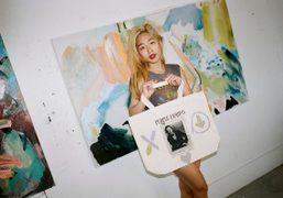 Artist Michelle Kim at her studio, Los Angeles