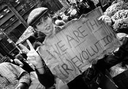 The model Nettie Harris at the Occupy Wall Street protest at Zuccotti…