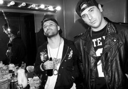 Eric Victorino and Giovanni Giusti of The Limousines backstage before their show at the legendary…