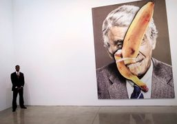 URS FISCHER BEDS & PROBLEM PAINTINGS OPENING at the Gagosian Gallery, Beverly...