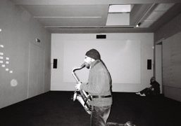 Saxophone performance at the Anri Sala new show at The Serpentine Gallery, Kensington Gardens,…