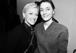 Cindy Sherman and Phoebe Philo at the Céline F/W 2014 show, Paris. Photo Stéphane…