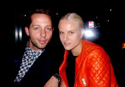 Derek Blasberg and Olympia Scarry outside the Proenza Schouler S/S 2013 show,…
