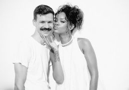 Adam Selman and Rihanna after the Adam Selman S/S 2015 show, New York. Photo Skylar Williams