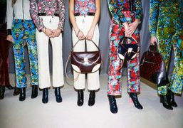 A backstage shot of the Louis Vuitton S/S 2015 collection, Paris. Photo…
