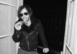 A unique BLK DNM leather jacket created for Olivier Zahm
