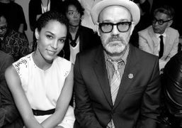 The American singer and actress Brooklyn Sudano and Michael Stipe at the…