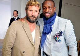 Stefano Pilati and Dwyane Tyrone Wade, Jr at the Yves Saint Laurent…