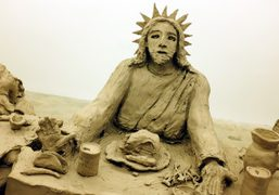 """Urs Fisher """"Last Supper"""" and """"Mermaid, Pig, Bro w/ Hat,"""" New York"""