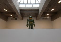 Haim Steinbach creature at the Tanya Bonakdar Gallery as part of his first solo exhibition,…