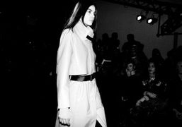 One look from Helmut Lang's F/W 2013 fashion show, New York. Photo Stephane…