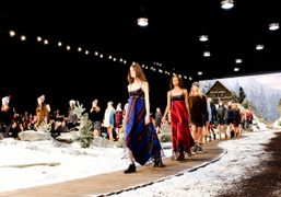The finale of the Tommy Hilfiger New York Fashion Week F/W 2014 show,...