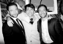 Actors Andres FaucherandJonah Blechman on either side of directorCoy Middlebrookafter their private…