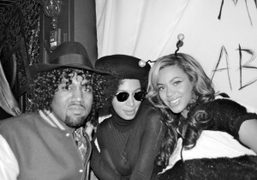 Kanye West, Solange Knowles and Beyonce for Anja Rubik's Halloween party at the Darby,…