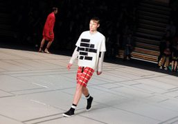 Kenzo Men's S/S 2014 show at the Académie Fratellini, Paris