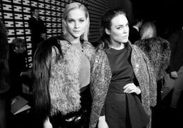Front row at the Fendi F/W 2013 show, Milan