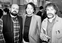 Michael Amzalag, Peter Saville and Mathias Augustyniakat the Peter Saville for Lacoste…