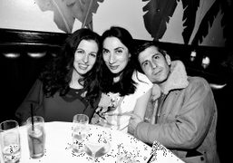 Chiara Clemente, Anh Duong and Andre Saraiva at the DVF dinner at Indochine,…