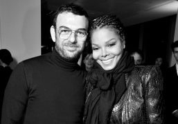 Francesco Russo and Janet Jackson at the Sergio Rossi F/W 2013 collection…